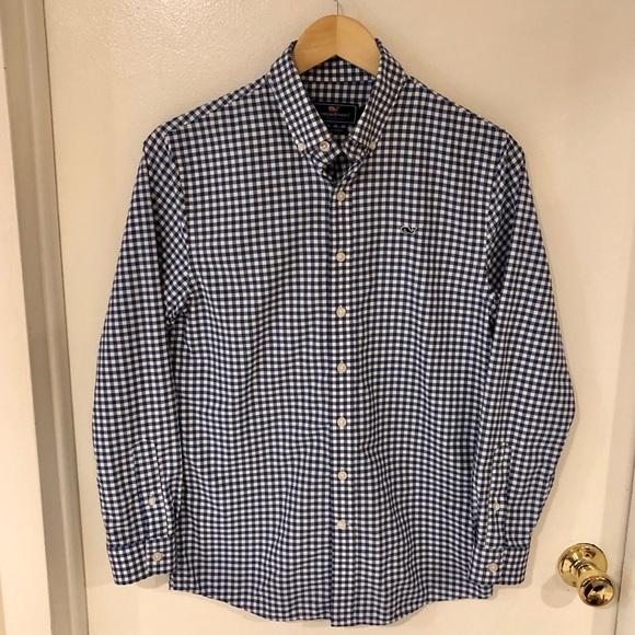 09c4ca70be1 Vineyard Vines Shirts & Tops | Boys Gingham Whale Shirt | Poshmark